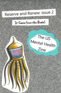 """issue 2 cover featuring the """"it came from the brain"""" subtitle and an image of a brain in a jar within an octopus suit"""