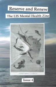 cover of issue 4 featuring a watery background and a woodcut image of undersea life